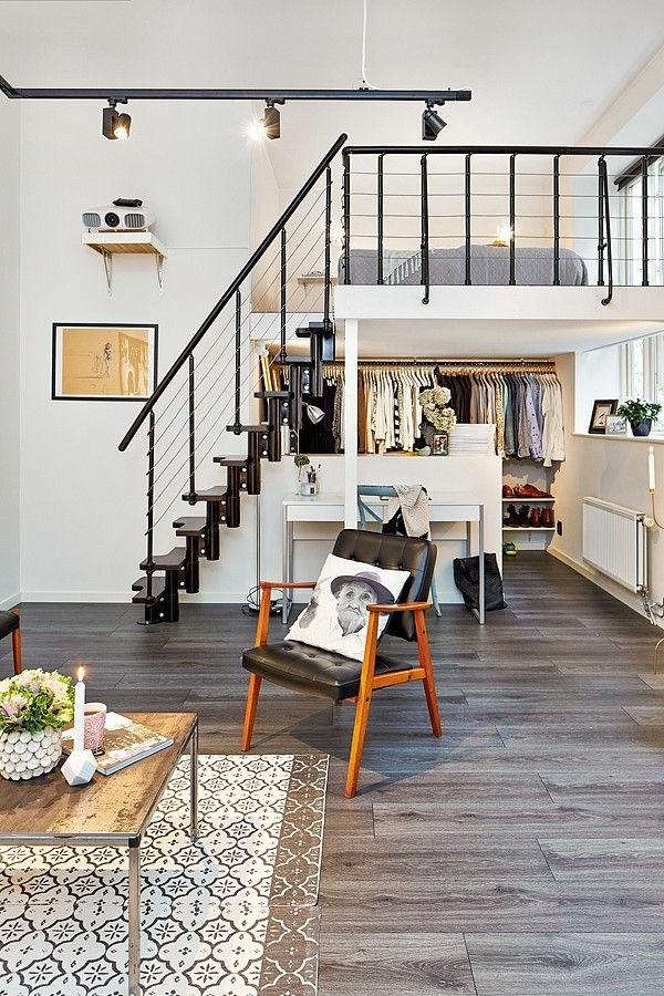 escalier-loft-appartement-loft-magnifique-chambre-à-coucher-suspendue
