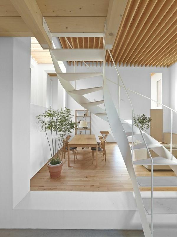 escalier-loft-blanc-intérieur-super-élégant