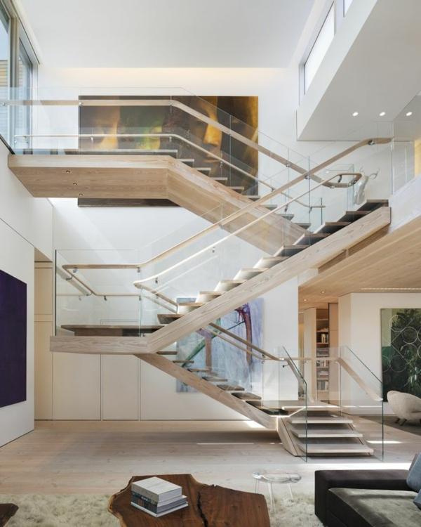 Designs captivants d 39 escalier loft for Maison loft design