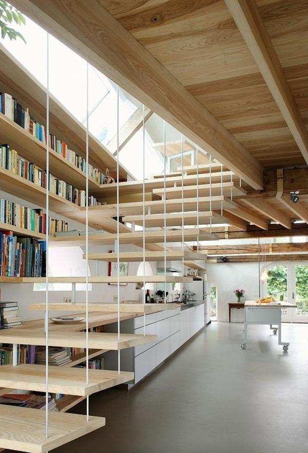 escalier-loft-escalier-flottant-et-bibliothèque-contemporaine