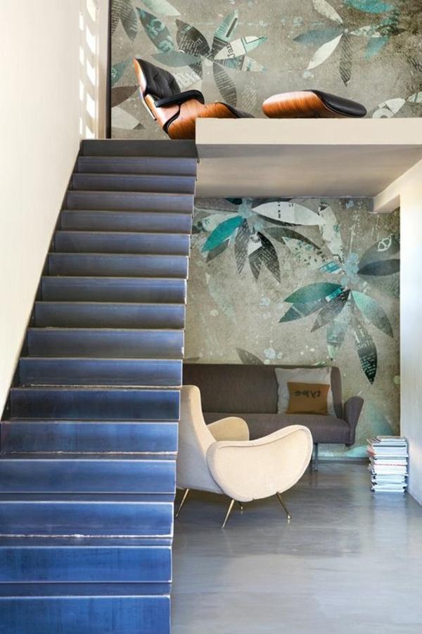 escalier-loft-et-peinture-murale-super-originale