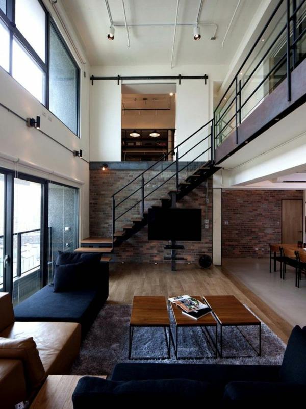 escalier-loft-intérieur-fantastique-et-escalier-industriel