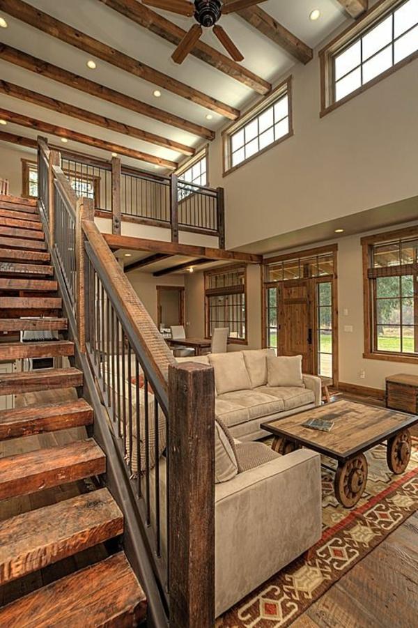 escalier-loft-intérieur-rustique-à-éléments-loft