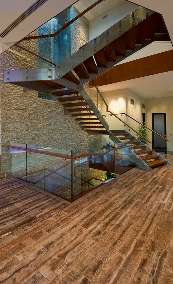 escalier-loft-intérieurs-loft-modernes