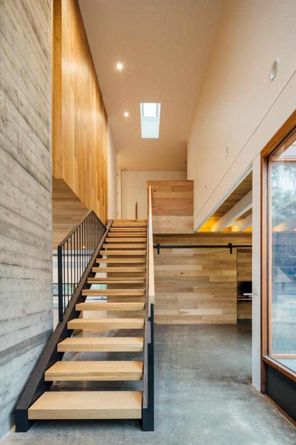 Designs captivants d 39 escalier loft for Interieur petite maison moderne