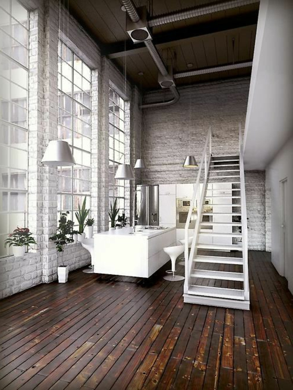 Designs captivants d 39 escalier loft for Petit escalier en bois