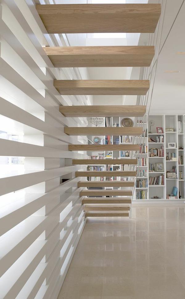 escalier-loft-pas-japonais-en-boiset-bibliothèque-blanche