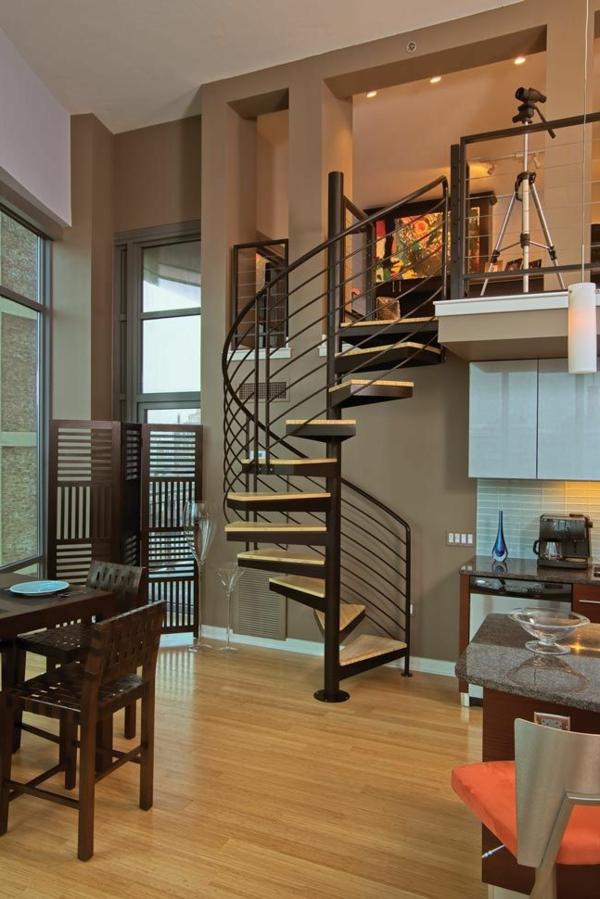 escalier-loft-tournant-intérieur-unique-et-beau