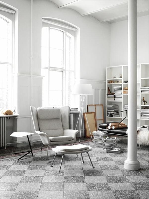 fauteuil-papillon-gris-classique