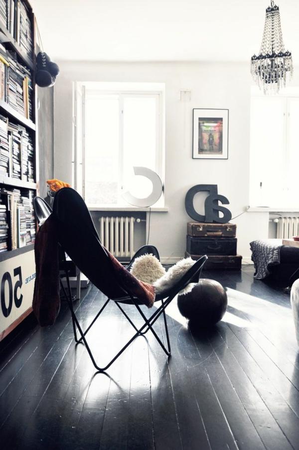 fauteuil-papillon-noir