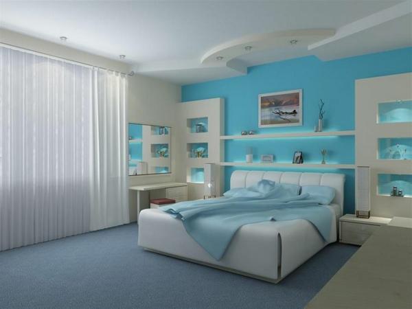 faux-plafond-suspendu-chambr-eà-coucher-bleue