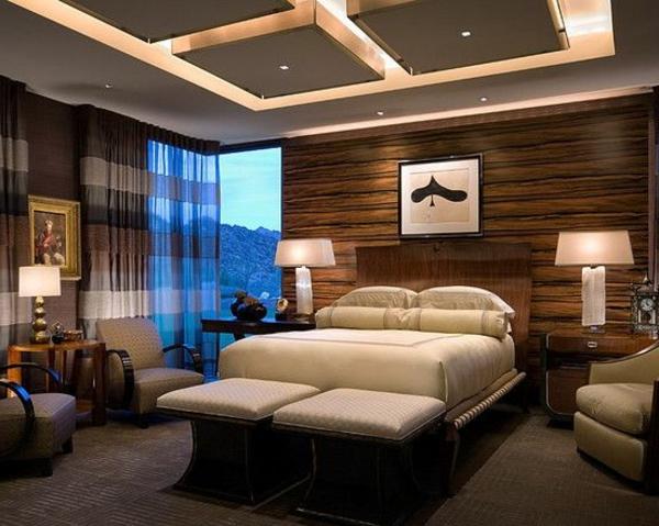 faux-plafond-suspendu-chambre-à-coucher-moderne
