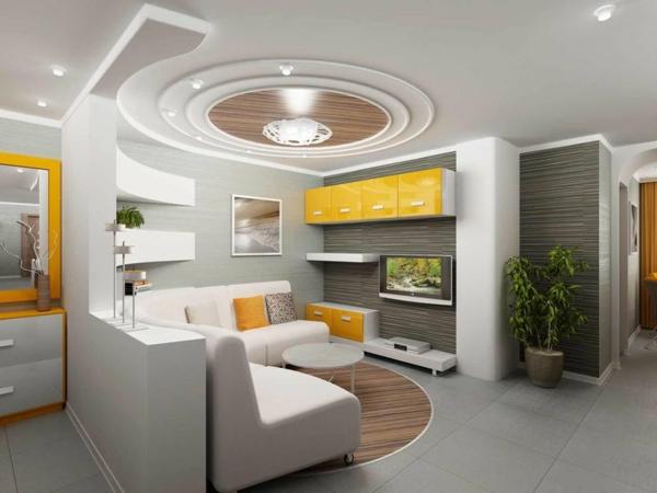 faux-plafond-suspendu-dans-une-salle-de-séjour-élégante