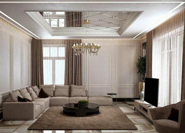 faux-plafond-suspendu-et-plafonnier-baroque