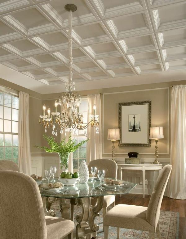 faux-plafond-suspendu-intérieur-baroque
