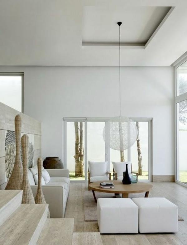 faux-plafond-suspendu-intérieur-blanc-et-suspension-globe