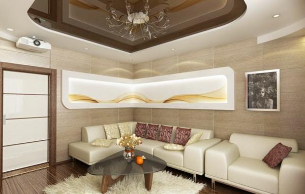 faux-plafond-suspendu-intérieur-en-couleur-beige