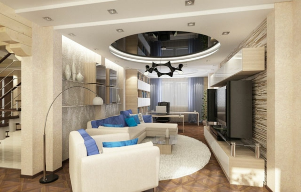 faux-plafond-suspendu-mobilier-en-couleur-crème