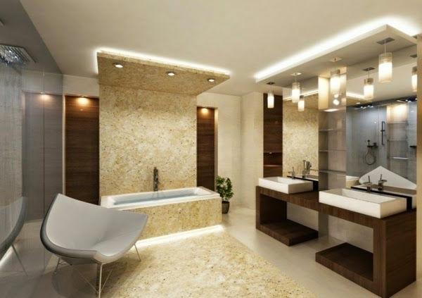faux-plafond-suspendu-salle-de-bains-élégante