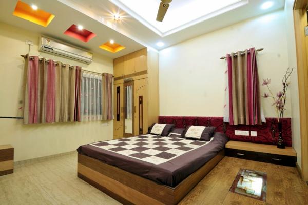 faux-plafond-suspendu-un-plafond-coquet-de-chambre-à-coucher