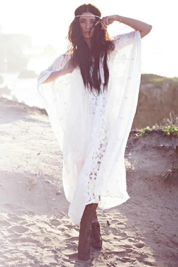 Comment adopter le style boheme chic for Robes de style de mariage de plage