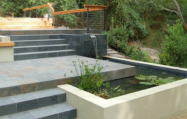 cascade bassin fontaine realisation accueil design et mobilier. Black Bedroom Furniture Sets. Home Design Ideas