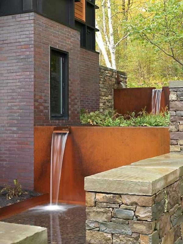 fontaine-pour-bassin-cascades-pour-l'extérieur-moderne