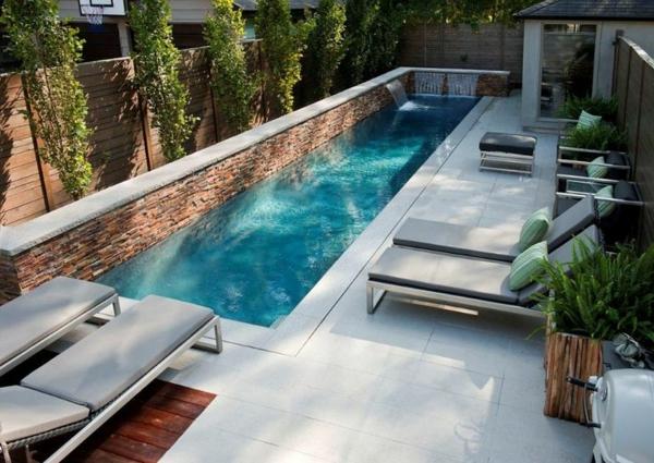 D coration de jardin avec une fontaine pour bassin for Piscine moderne design