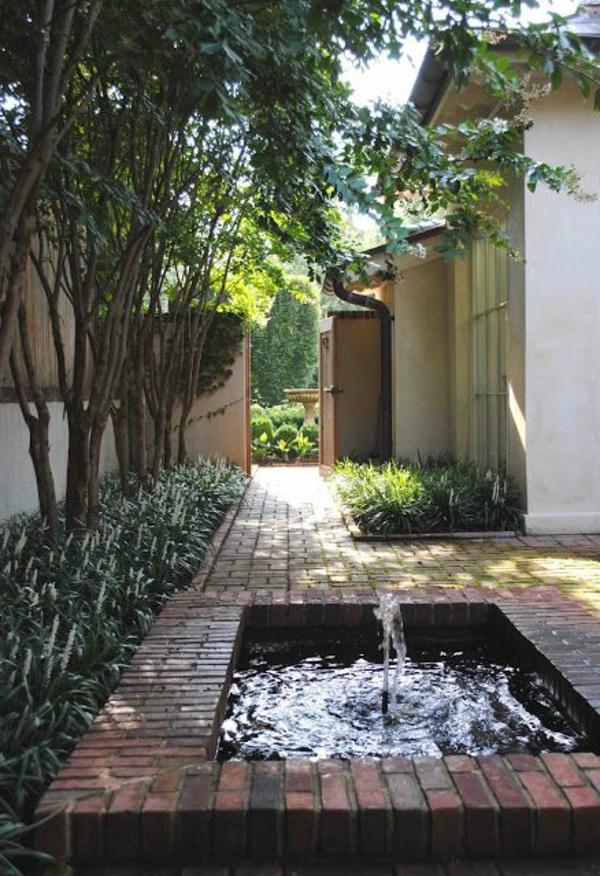 vasque avec jet d eau Décoration de jardin avec une fontaine pour bassin ...