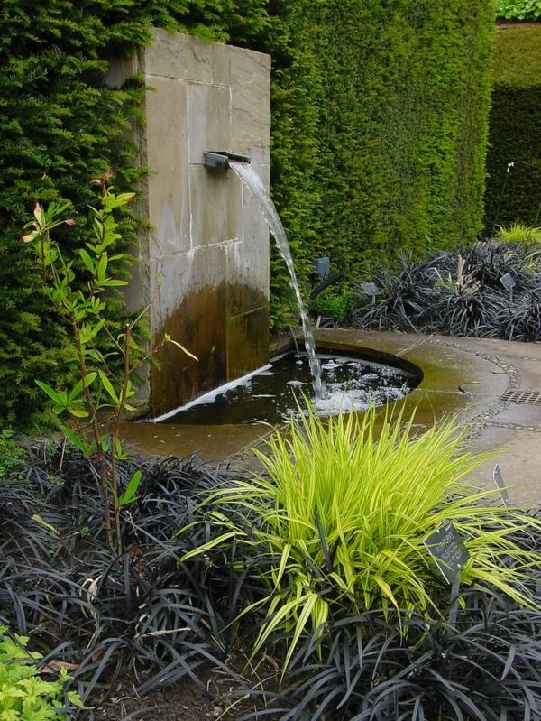 D coration de jardin avec une fontaine pour bassin - Fontaine decorative exterieure jardin ...