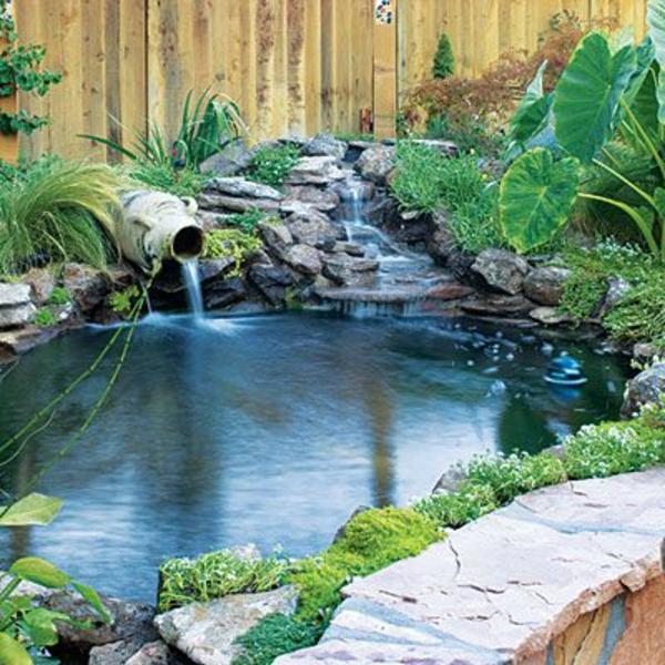 Decoration De Jardin Avec Une Fontaine Pour Bassin Archzine Fr