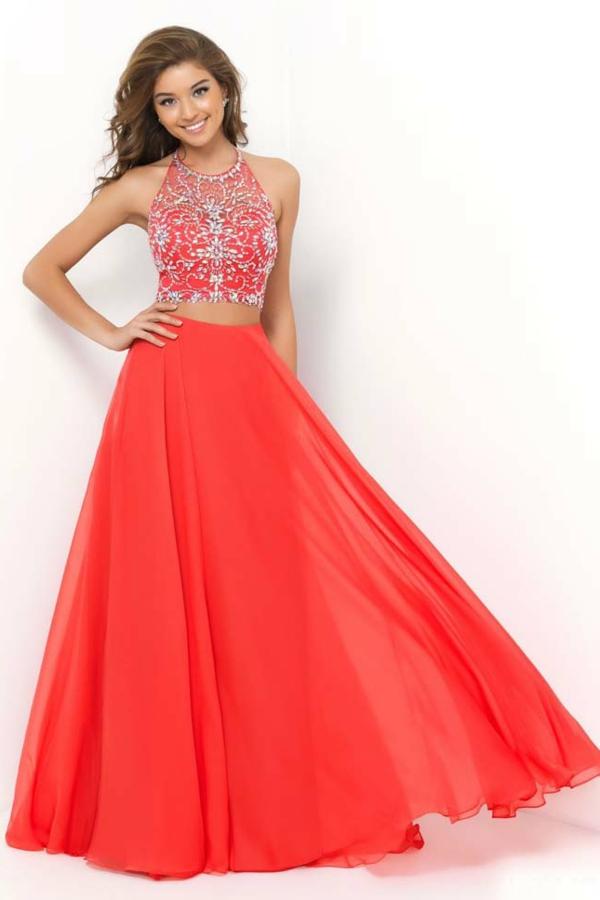 high-waisted-robe-de-soirée-rouge-deux-pièces