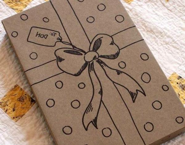 idées-créatives-papier-crafte-paindre-pour-emballage-de-cadeau