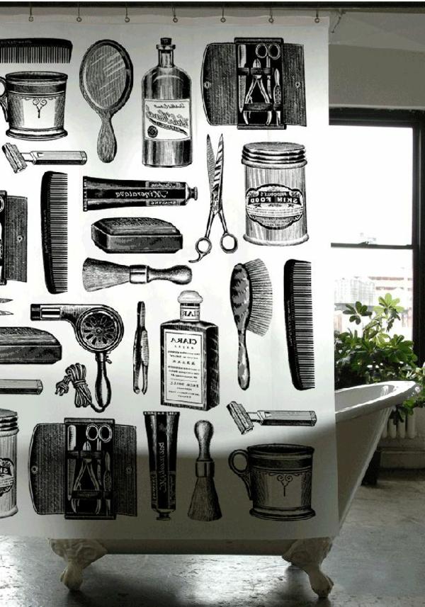 instruments-comment-décorer-la-bain-rideaux-douche