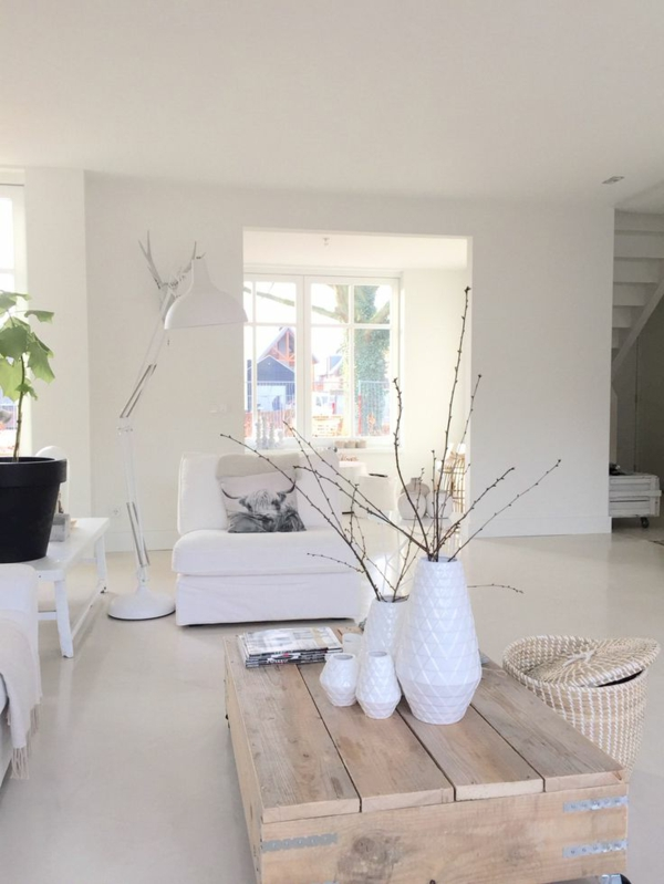 R nover sa maison sans effort avec 57 id es originales for Interieur maison moderne blanc