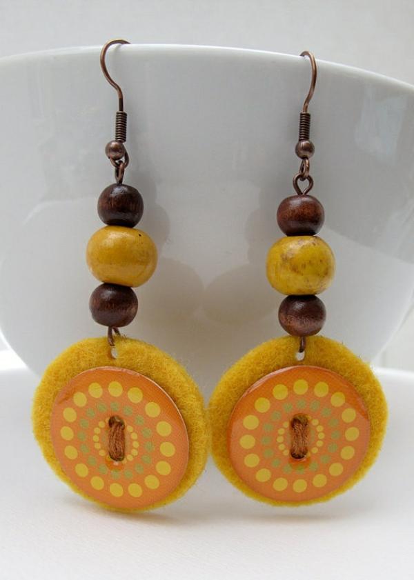 jolie-accessoire-originale-boucle-d-oreille-orange-jaune