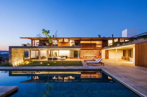 La maison plain pied moderne for Maison moderne de luxe avec piscine