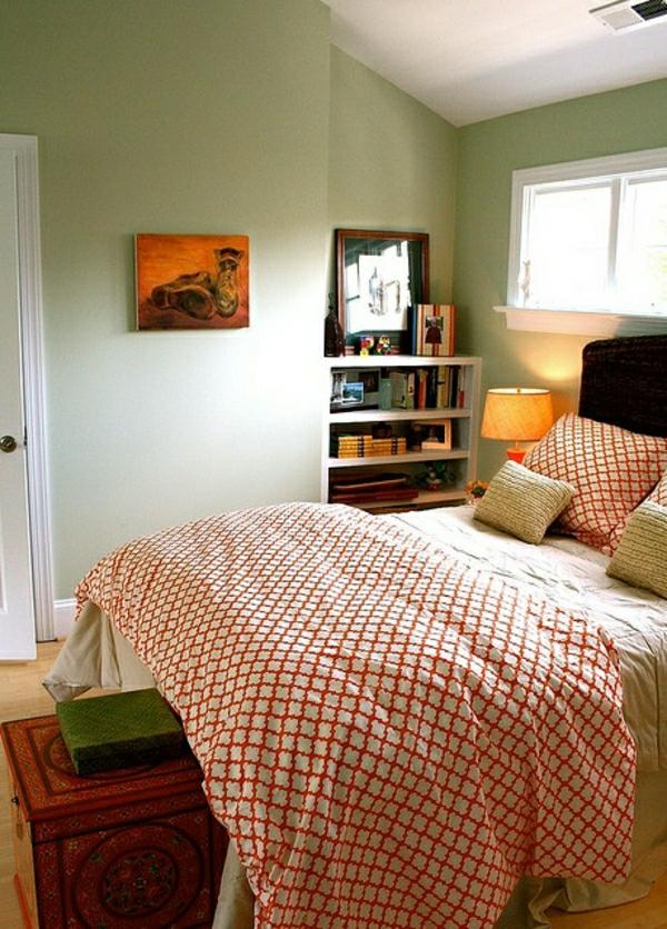 linge-de-lit-coloré-rouge-blanc-chambre-coucher