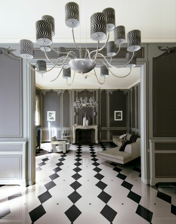 lino-imitation-carrelage-blanc-noir-salon-baroque