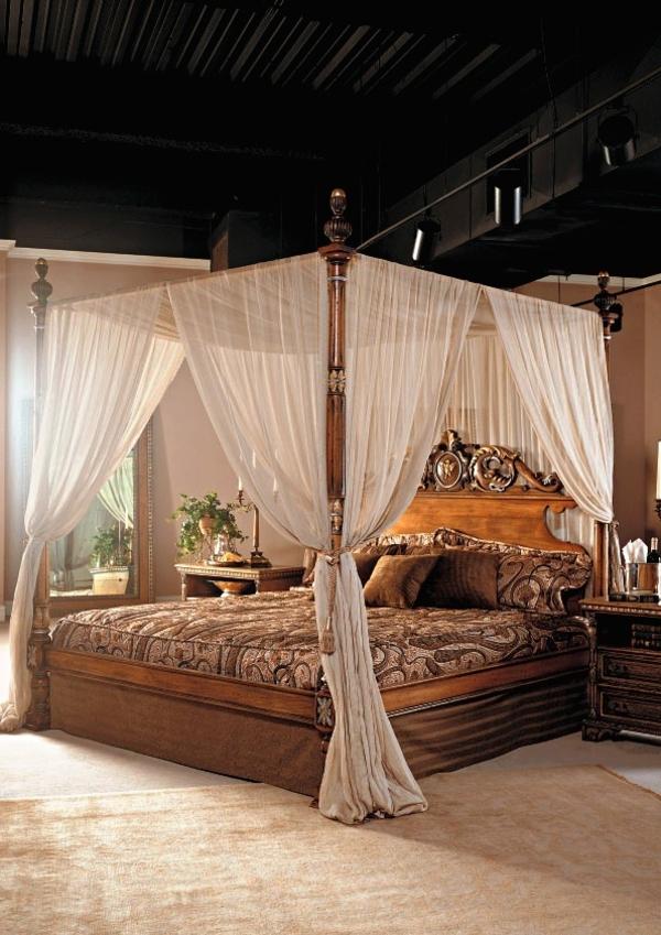 lit-avec-rideau-vintage-style