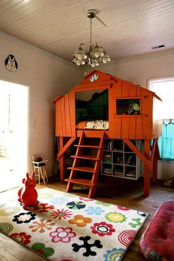 lit-enfant-rouge-cabane-moderne