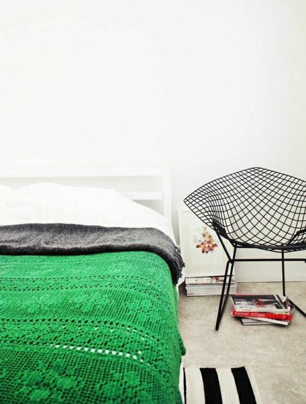 lit-vert-couverture-de-lit
