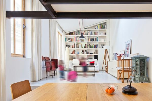 loft-parisien-bibliothèque-intégrée