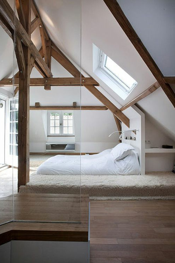 loft-parisien-chambre-à-coucher-attique