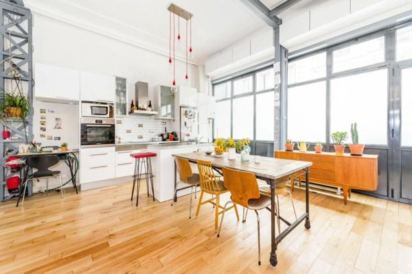 Le loft parisien inspiration et style unique for Cuisine moderne loft