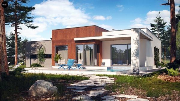 La maison plain pied moderne - Archzine.fr