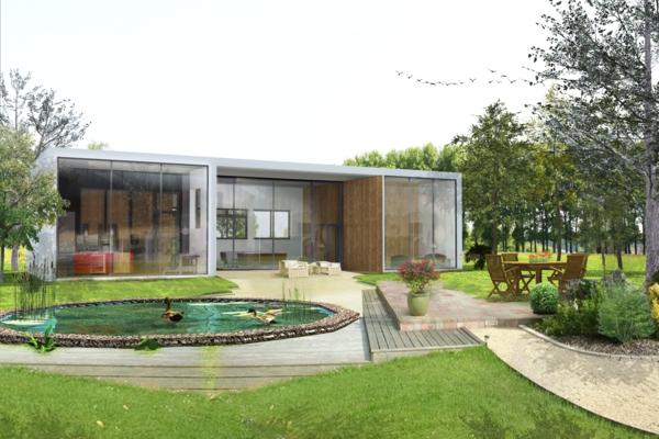 maison-à-un-niveau-moderne-réalisation