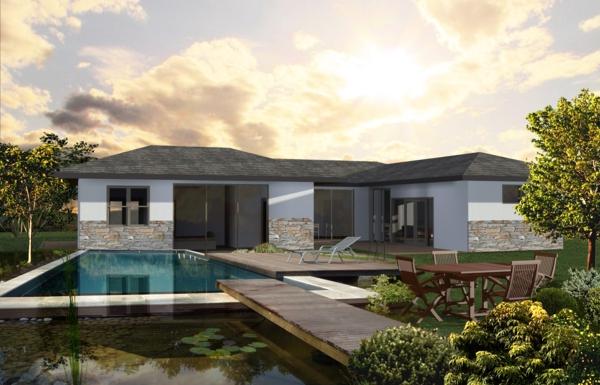 La maison plain pied moderne for Realisation maison contemporaine