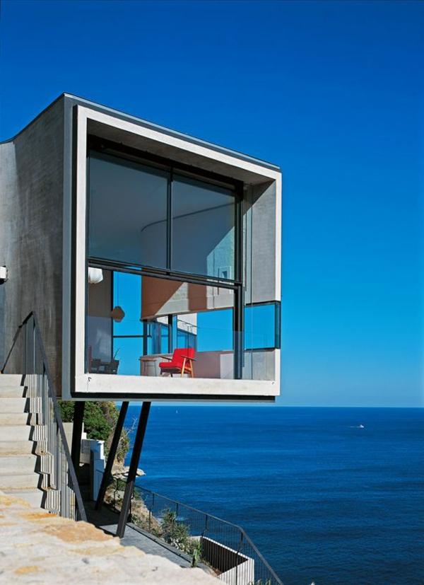 La maison cubique en 85 photos - Maison au bord de mer ...