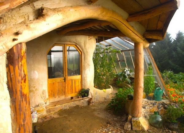 maison-de-hobbit-porte-d'entrée